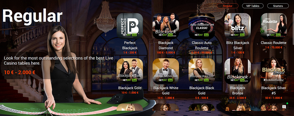 Dealers in 22Bet online casino.